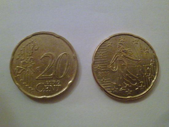 Франция 20 евроцентов 1999г. распродажа