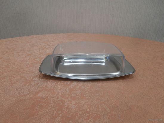 Масленка с пластмассовой крышкой Германия 20 х 11.5 см., б/у.