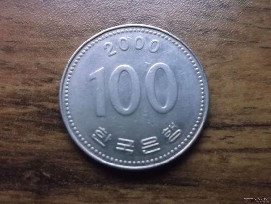 Южная Корея 100 вон 2000