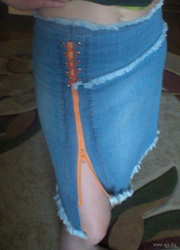 Юбка джинсовая б/у 42-46 размер