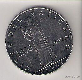 Ватикан, 100 lire, 1963г (2)
