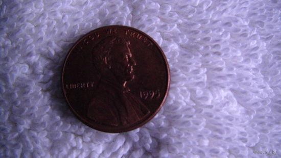 США 1 цент 1995г  распродажа