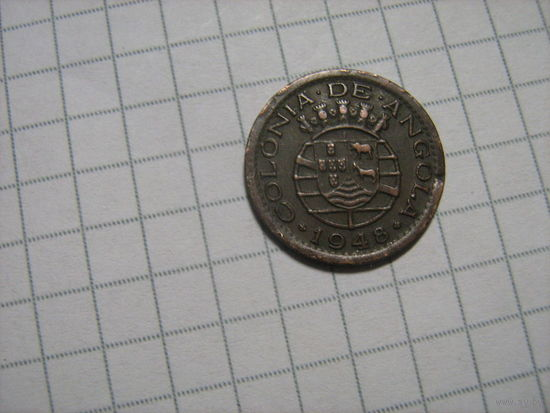 Колония ангола 10центаво1948г.