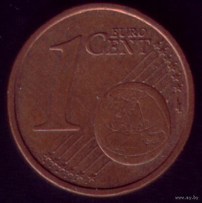 1 евроцент 2002 год Италия