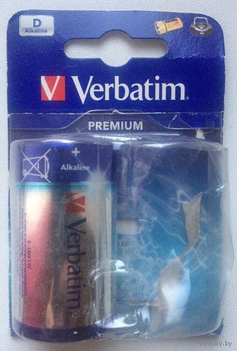Батарейка D. R20. Verbatim, Alkaline. Алкалиновая. 1.5V, LR20