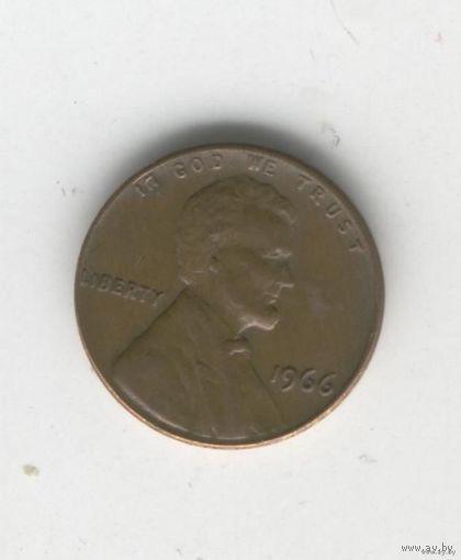 США 1 цент 1966г.   распродажа