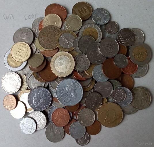 130 монет без России, СССР, Украины, Польши, страны в описании