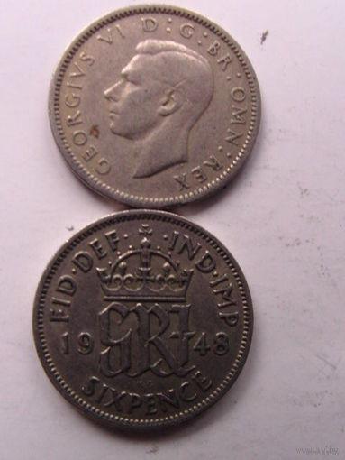 6 пенсов 1948г Великобритания   распродажа