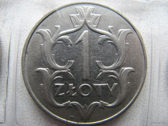 Монета 1 злотый польша 1929г 10 копеек 1985 года