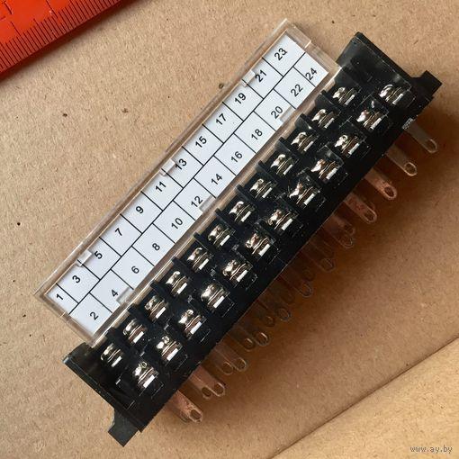 Клеммная колодка 24 контакта. Клеммник барьерный. Клемная, клемма DG24-2-A-24P