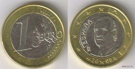 Испания. 1 евро (2008)