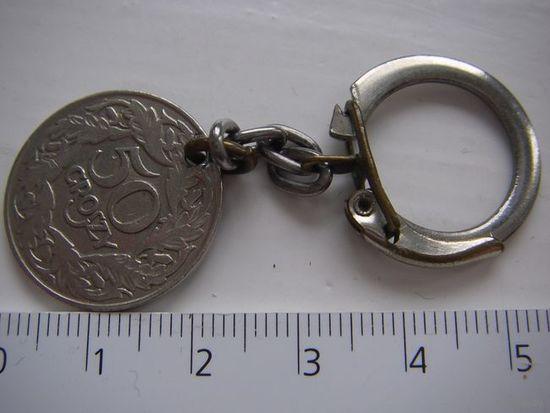 Брелок  времён СССР  из монеты 50 грошей 1923 г