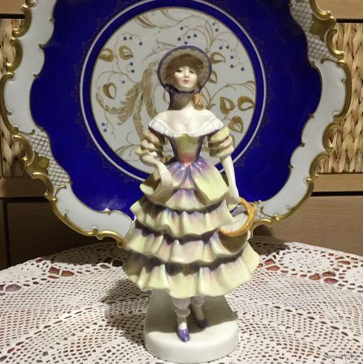 Торги!Красивая винтажная Статуэтка Барышня с корзинкой в Люксе! Royal Doulton Англия