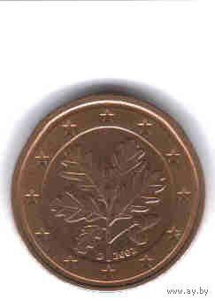 Германия 2 евроцента 2002г G.  распродажа