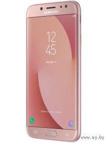 "Samsung Galaxy J7 (2017) Android, экран 5.5"" AMOLED (1080x1920), Exynos 7870, ОЗУ 3 ГБ, флэш-память 16 ГБ, карты памяти, камера 13 Мп, аккумулятор 3600 мАч, 2 SIM, цвет розовый, очень хорошее состояни"