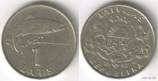 Латвия. 1 лат (1992)