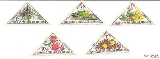 Флора. Цветы. Камерун. Серия 5 марок негаш.