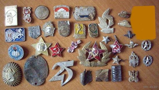 Значки из земли, лот пополняемый по мере появления новых экземпляров.