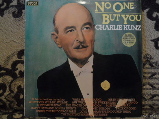 Charlie Kunz - No one but you - Decca, England